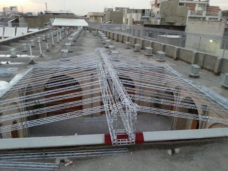 کاربرد اسپیس فریم در فضا های باز و سقف سازی