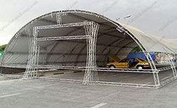 ابعاد سازه ی ساخته شده با اسپیس فریم و سایز های استاندارد اسپیس نمایشگاهی